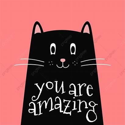 Cat Quote Inspirational Clipart Background Vector Vectors