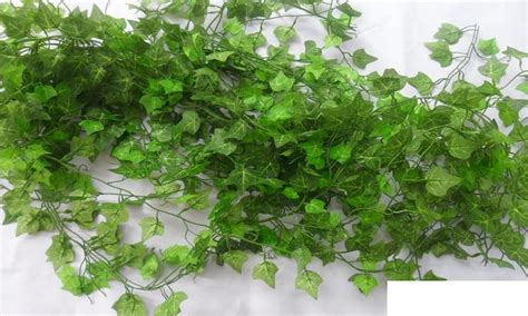 Online Cheap 250cm Plastic Climbing Vines Simulation Green