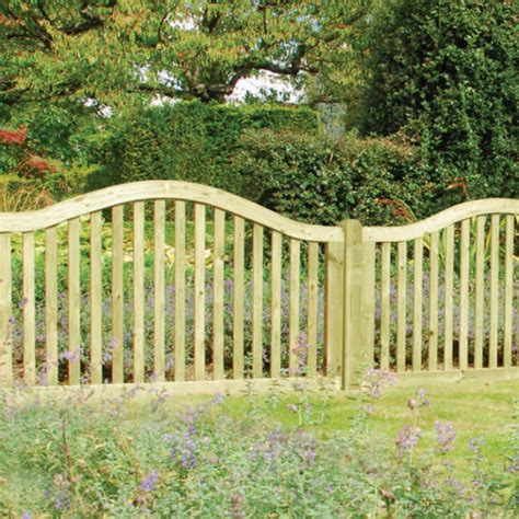 omega border garden fence panel 1 05m from wooden