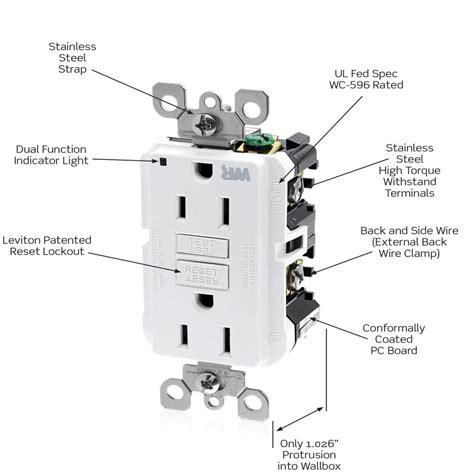 leviton wr599 w 125 volt smartlock pro slim weather resistant gfci receptacle white