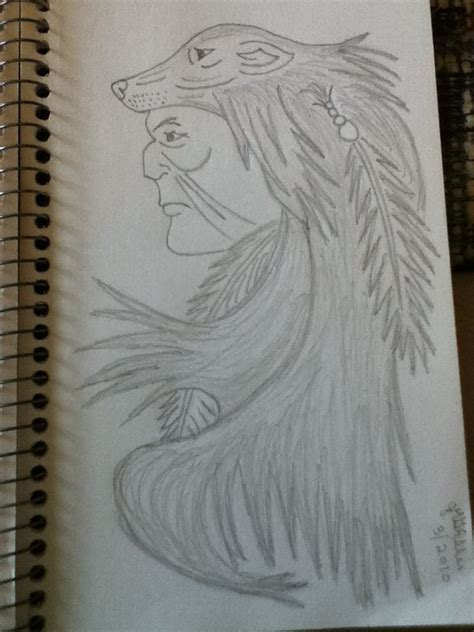 pencil drawing native american indian jmgellis