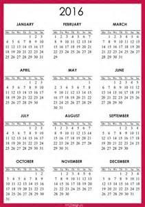Free 2016 2017 Calendar Printable One Page