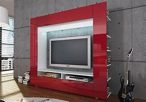 Tv Möbel Rot : wohnwand tv medienwand olli in hochglanz rot ~ Whattoseeinmadrid.com Haus und Dekorationen