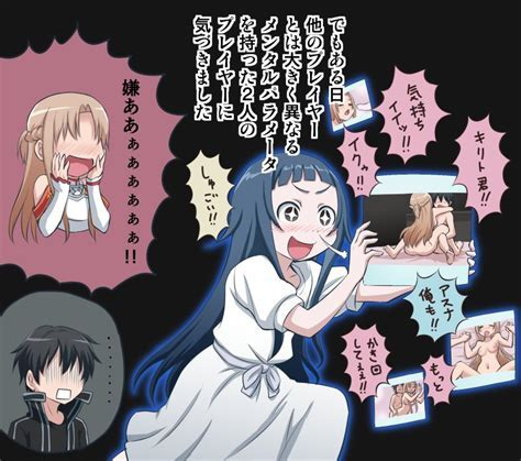 Asuna Kirito And Yui Sword Art Online Drawn By Gachon Jirou Danbooru
