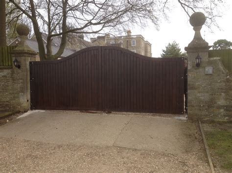 Driveway security gates, The Wooden Workshop, Oakford