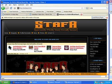 12 Website Untuk Bawah Beban Stafa Band