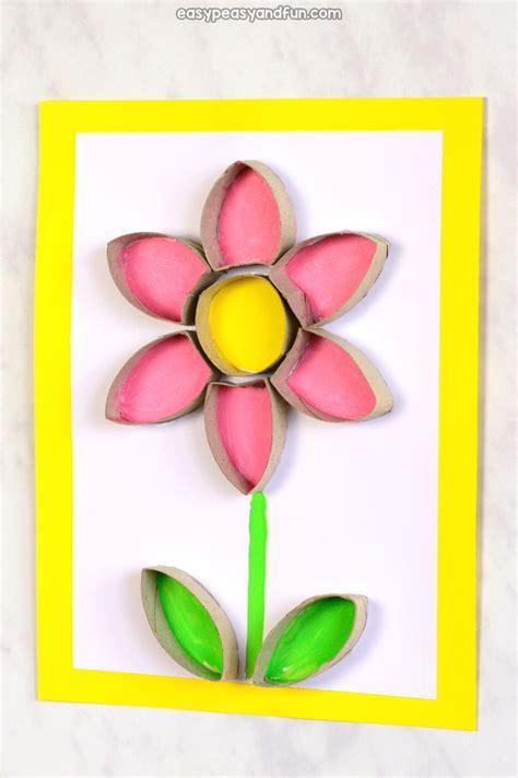 flower toilet paper roll craft easy peasy  fun