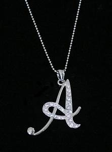 Quotaquot letter initial alphabet pendant charm necklace clear for Letter jewelry pendants