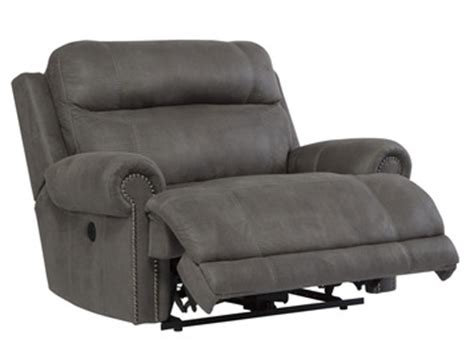 austere chair and a half power wall recliner in gray by