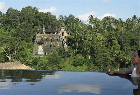 Infinity Pools At Ubud Hanging Gardens Luxury Hotel