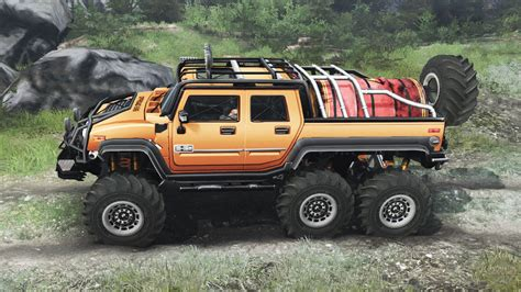 Hummer H2 6x6 [03.03.16] for Spin Tires