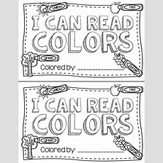A Free Printable Color Words Book That Kindergarten Kids Can Color Great To Use In Guided