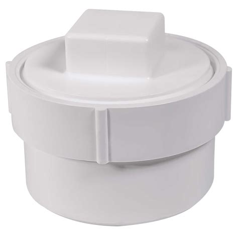 Sch 40 PVC DWV Fitting Cleanout Adapter with Clean Out ...