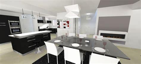 photo de cuisine ouverte sur sejour cuisine ouverte sur sejour idées de décoration et de