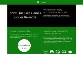 Xbox One Game Codes Free