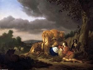 Kuh Bilder Auf Leinwand : eine kuh zu melken l auf leinwand von adriaen van de ~ Whattoseeinmadrid.com Haus und Dekorationen