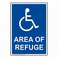 Ada Area Of Refuge Sign Nhe10040 Rescue  Refuge Area