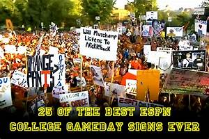 25 Of The Best ESPN College Gameday Signs Ever Total Pro