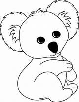Koala Bear Coloring Animal Printable Clipart Animals Koalas Sheets Cartoon Crafts Drawing Template Clip Colouring Bears Sheet Craft Draw Drawings sketch template