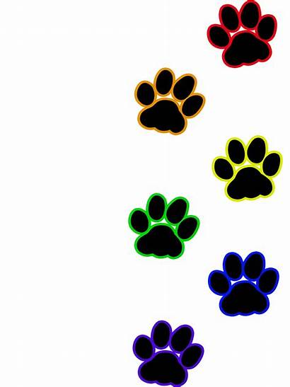 Paw Clipart Cat Transparent Heart Rainbow Pawprint