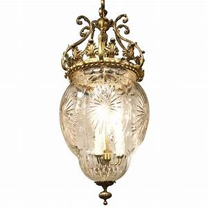 French, Empire, Style, Cut, Glass, Pendant, Light