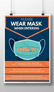 Wear Mask Coronavirus Covid19 Awareness attention poster ...