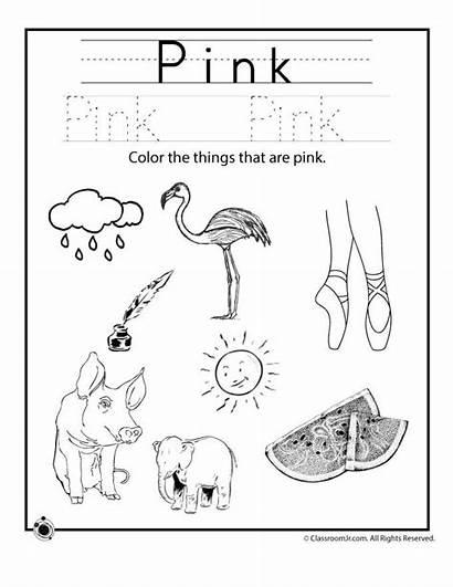 Worksheets Preschool Pink Colors Learning Preschoolers Worksheet