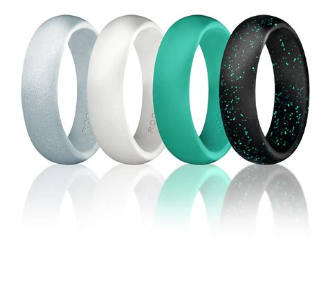 silicone wedding ring for women by roq of 4 silicone rubber wedding bands 608442449496 ebay