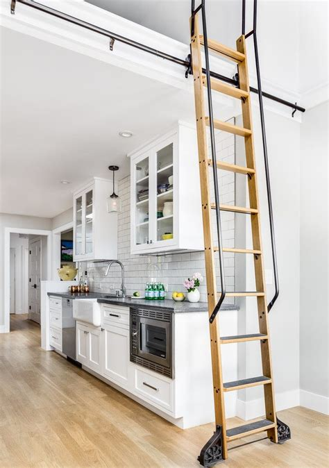 custom rolling ladder bookcase kitchen contemporary  bookshelves contemporary serving trays