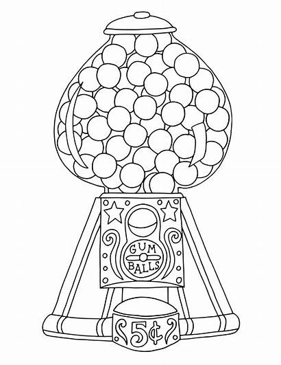 Gumball Coloring Machine Colouring Machines Printable Ball
