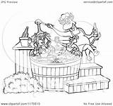 Bbq Sauce Tub Chef Chicken Bull Pig 1080px Cartoon Pouring Female Clipart Outlined Lafftoon Royalty Vector sketch template