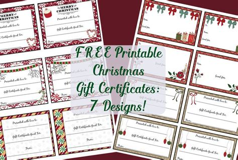 ideas   printable gift certificates