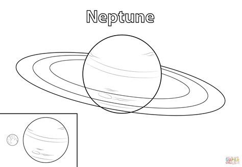 Planets Neptun Colouring