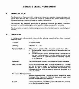 exelent software sla template gallery example resume With saas service level agreement template
