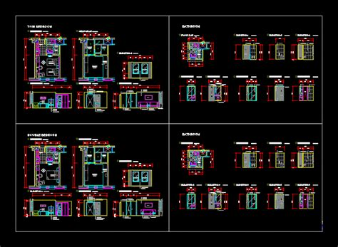 hotel room project  autocad cad   kb