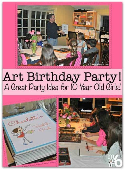 art birthday party  great party idea   year