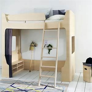 Chambre enfant lit mezzanine le lit mezzanine dcoration for Chambre design avec sommier et matelas 120x200