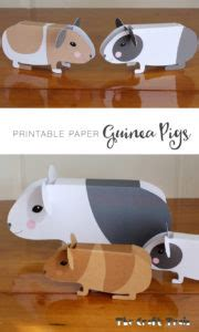 printable paper guinea pigs  craft train