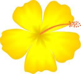 Yellow Hawaiian Flower Clip Art