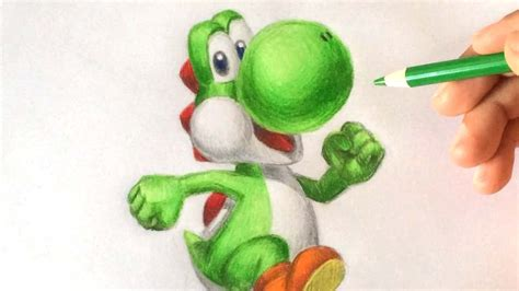 draw yoshi  nintendo drawing tutorial youtube