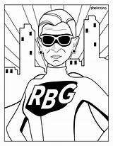 Rbg Coloring Pages Notorious Ruth Bader Ginsburg Printable History Month Feminist Dreams Adult Books Cool Unicorn Superhero Sheets Huffingtonpost Sheknows sketch template