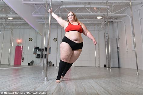 plus sized pole dancer eda marbury sheds nearly six stone