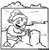 Coloring Pages Drawing Sandcastle Thecolor sketch template