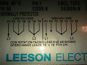 Switch Wiring Diagram For A Leeson Motor