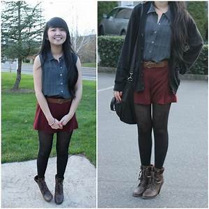 Jennifer Dao - Forever 21 Burgundy Skirt - Falling into ...