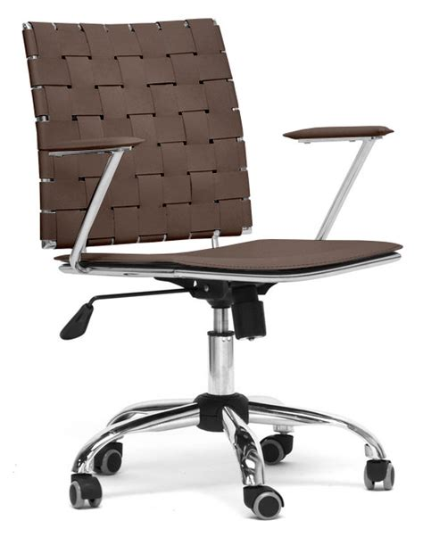 baxton studio vittoria white leather modern office chair