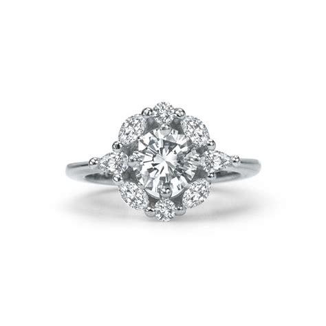 engagement rings toronto engagement rings vintage flower engagement ring custom engagement rings studio1098