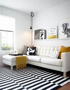 17 meilleures idees a propos de tapis a rayures sur With tapis kilim avec canape blanc fly