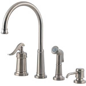 kitchen faucets with soap dispenser price pfister gt26 4ypk ashfield 4 kitchen faucet with sidespray and matching soap