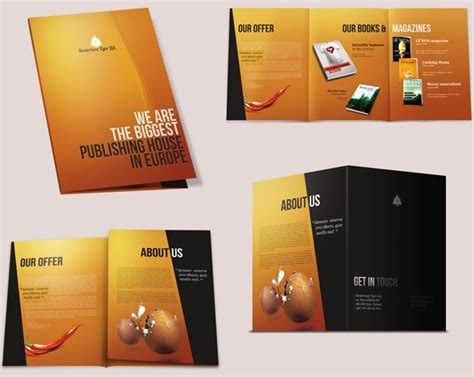 Publisher 2003 In Pictures Create A Brochure From A Template How To Design Brochure 30 Excellent Brochure Designing